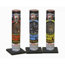 Air Bomb Single Shot Tube With Assorted Effects #3