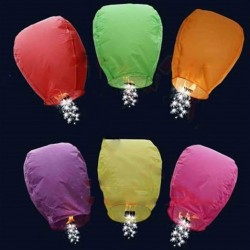 Sparkling Glitter Sky Lantern Assorted Colors
