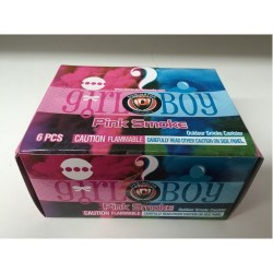 Its A Girl Pink Outdoor Smoke Canister 6pk