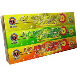 No.8 Bamboo Color Sparklers 72ct Assorted Colors