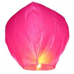 It's A Girl Hot Pink Sky Lantern