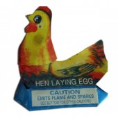 Hen Laying Eggs
