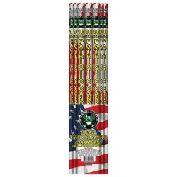 10 Ball Patriotic Candle Assortment Red White And Blue